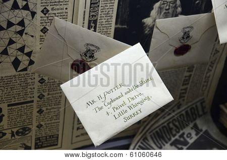 Letter display at Warner Bros studio, London