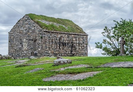 Stone Church In Cemetery, Spiddal, County Galway, Galway, Ireland