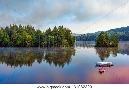 Early Morning Lake Scene