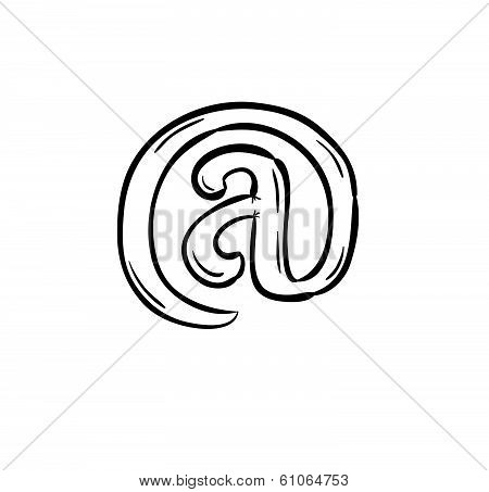 Sketch Of The E-mail Sign