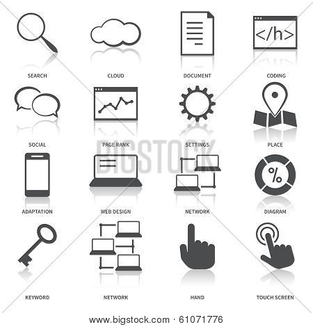Search Engine Optimization Icons Set