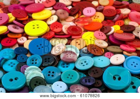 multicoloured sewing buttons background