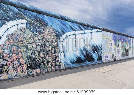 East Side Gallery Graffiti Gap Wall