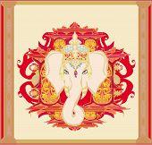 Creative illustration of Hindu Lord Ganesha , vector illustration poster