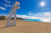 Moraira Playa la Ampolla beach in Teulada Alicante at Mediterranean Spain poster