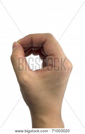 Sign language O