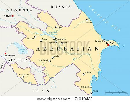 Azerbaijan Political Map