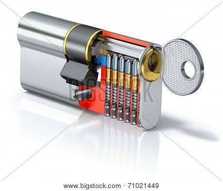 Lock in 3D section