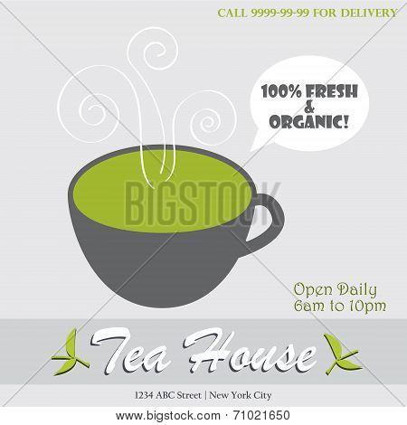 Tea house infographic illustration