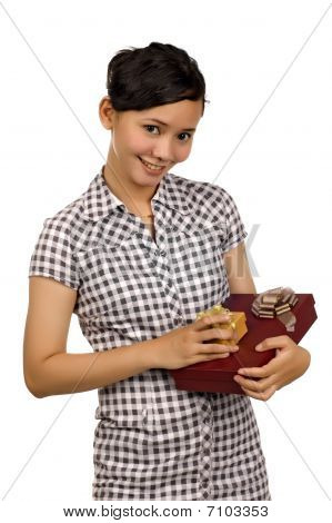 Woman Give Present
