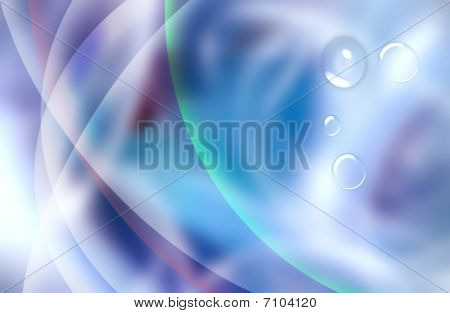Smooth Abstract Background With Bubbles