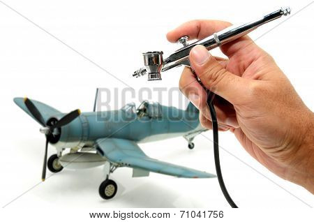 Model Plane Painting