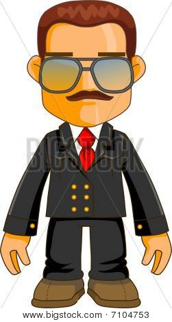 Cool cartoon character