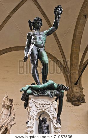 Perseus with the Head of Medusa sculpture at Piazza della Signoria, Florence, Tuscany