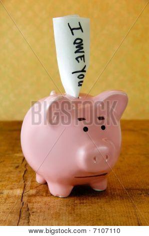 Worried Piggy Bank