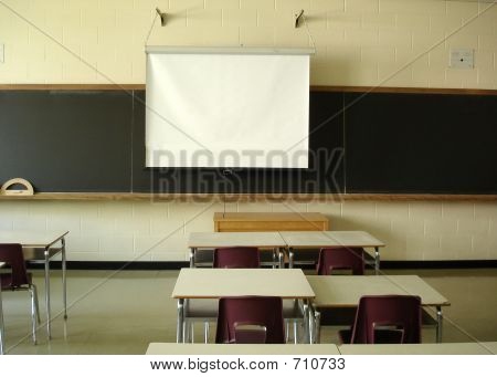 Classroom  Overhead Screen Down