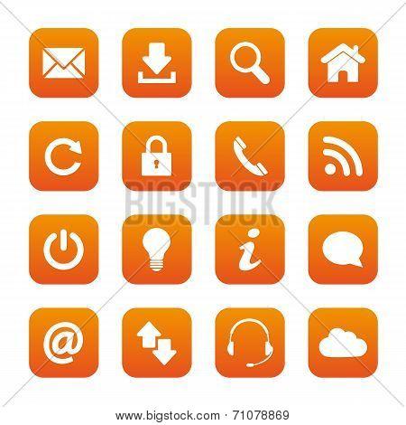 Orange Web Buttons