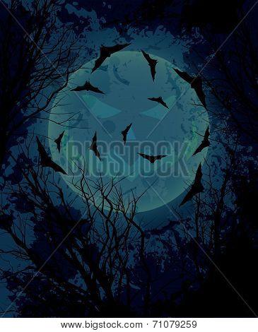 Halloween night background illustration