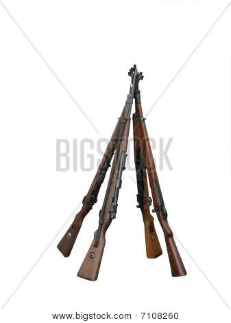 Rifles in a stack