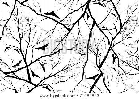 halloween background grunge image of  forest