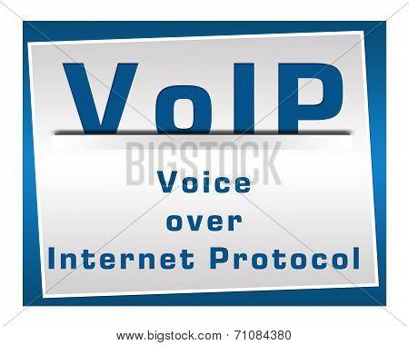 VoIP Square Blue
