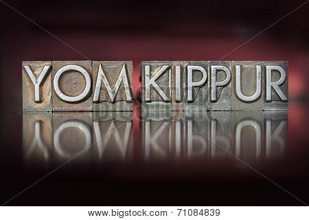 Yom Kippur Letterpress