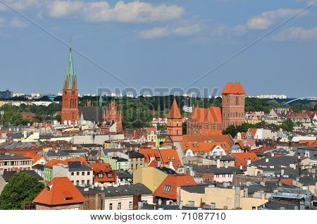 Panoramic View Of Torun, Poland