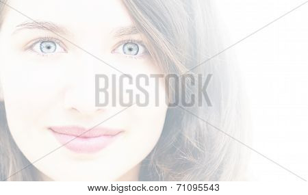 Young Woman Beauty-white