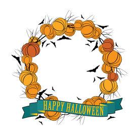 Vector Halloween wreath 3