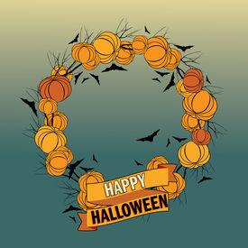 Vector Halloween wreath 5
