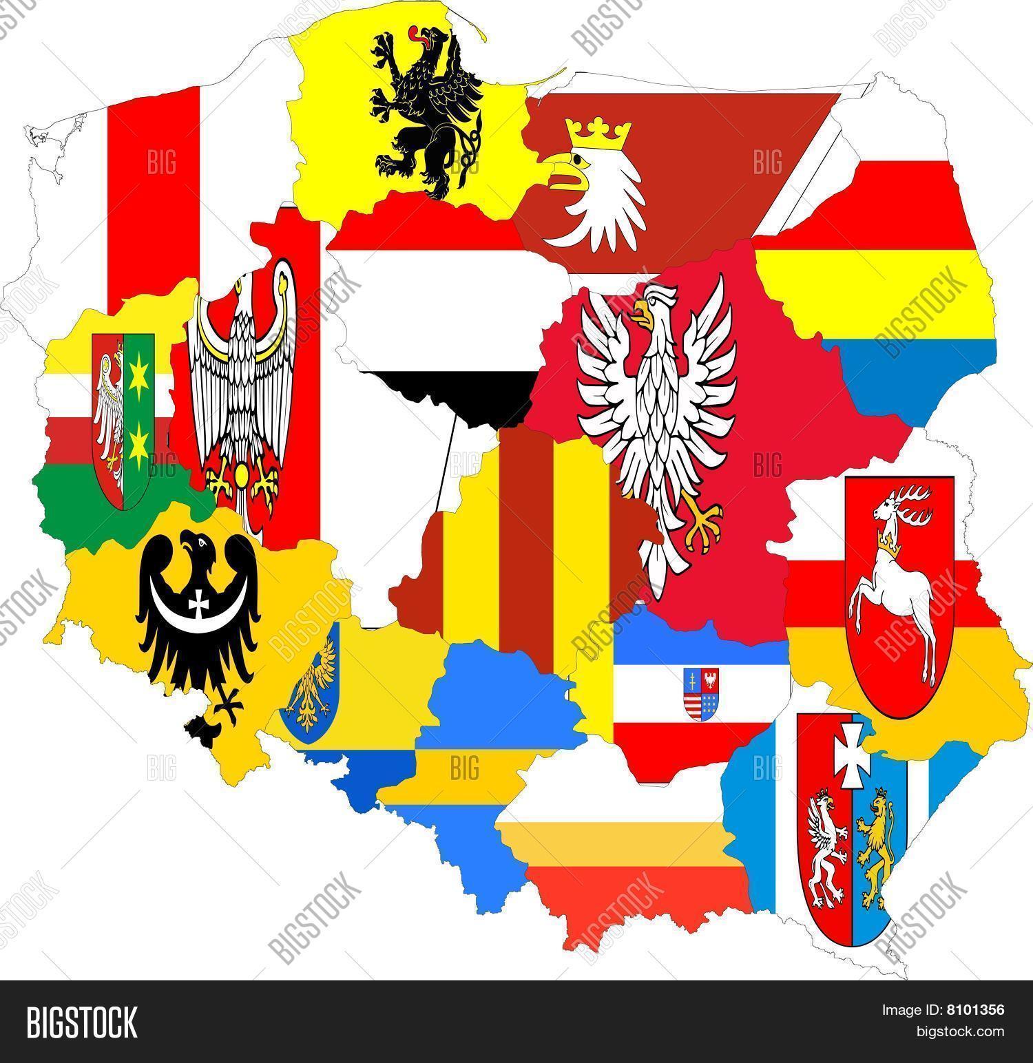 Poland Map Provinces Image & Photo (Free Trial) | Bigstock