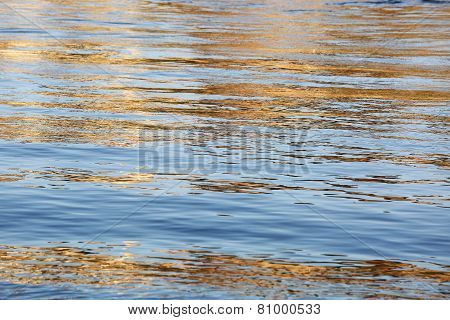 Artistic Colorful Water Surface Background