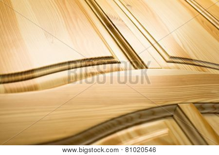 Wooden Surface. Frame And Panel Construction