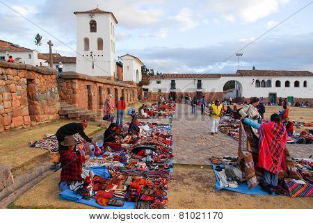 Inca Market In Chichero, Peru