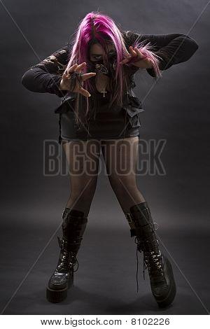 Crazy Goth Girl