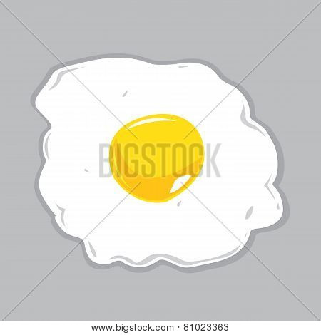 Sunny Side Up Egg Vector Illustration