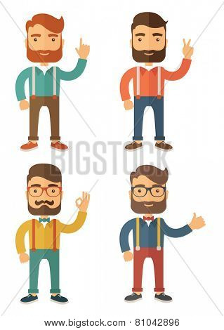 Hipster. Flat Vector Illustration.
