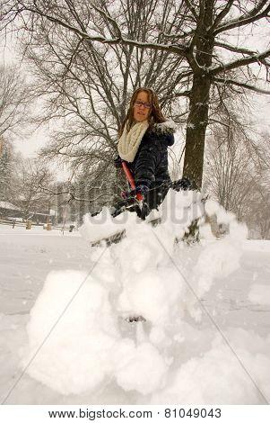 Shoveling Snow Throwing Low