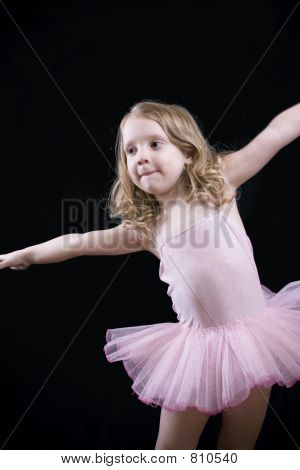 Stretching little girl