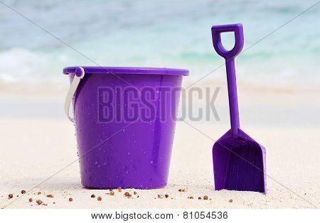 Purple Bucket & Spade