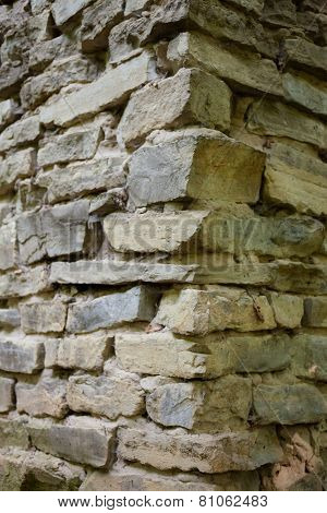 Stone Masonry Corner With Rich And Various Texture