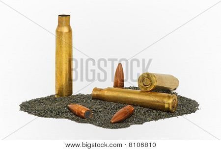 Disassembled M-16 bullets