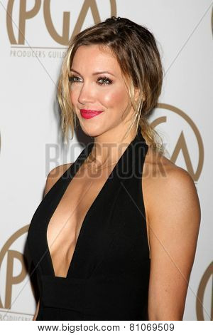 LOS ANGELES - JAN 24:  Katie Cassidy at the Producers Guild of America Awards 2015 at a Century Plaza Hotel on January 24, 2015 in Century City, CA