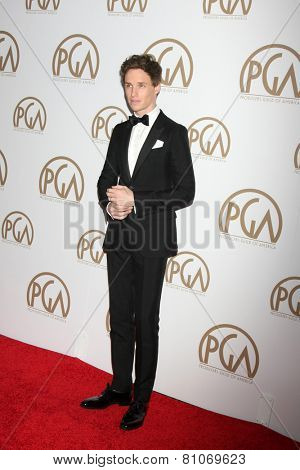 LOS ANGELES - JAN 24:  Eddie Redmayne at the Producers Guild of America Awards 2015 at a Century Plaza Hotel on January 24, 2015 in Century City, CA