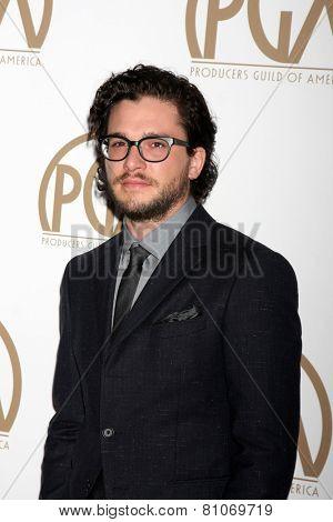 LOS ANGELES - JAN 24:  Kit Harrington at the Producers Guild of America Awards 2015 at a Century Plaza Hotel on January 24, 2015 in Century City, CA
