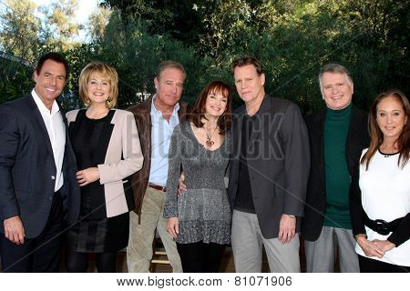 LOS ANGELES - JAN 23:  Mark Steines, Cristina Ferrare, J James, PS Martin, Al Corley, G Thompson, P Bellwood at the Home and Family Show taping at Universal on January 23, 2015 in Universal City, CA