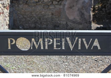 Detail Of Pompei Viva Insigna