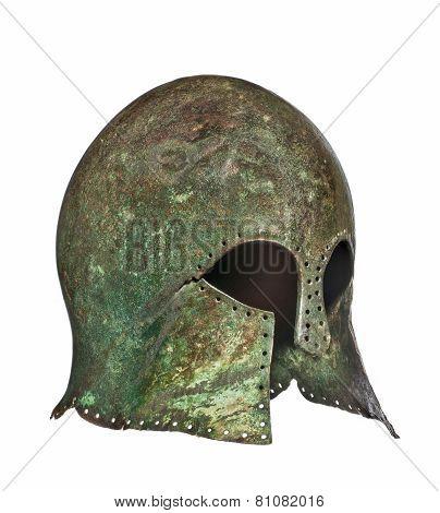 Early Rare Original Antique Vintage Grecian Helmet