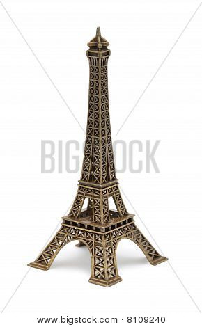 Eiffel Tower Statue, Isolated