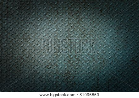 Blue Metal Rhombus Shaped Texture